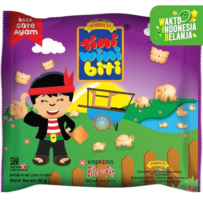 Foto Produk TINI WINI BITI biskuit anak Sate Ayam 20 g bentuk binatang 3 sachet dari Konimex Store