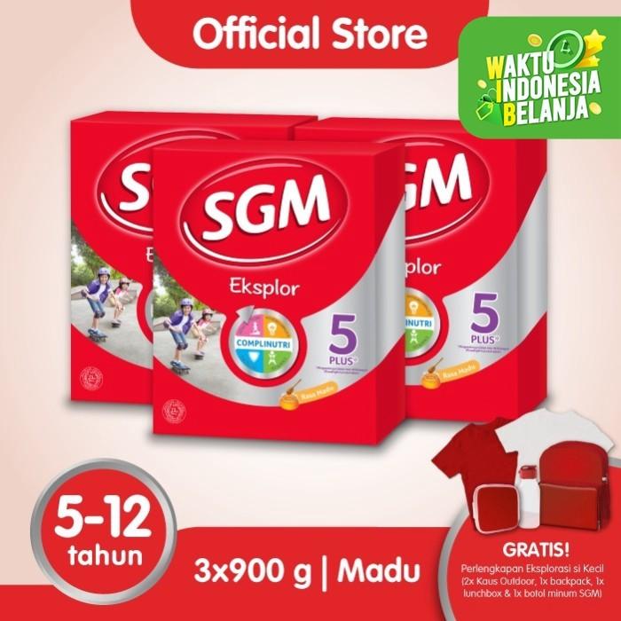Foto Produk Paket 3 - SGM Eksplor 5 Plus Susu Pertumbuhan 5-12 Thn Madu 900g dari SGM Official Store