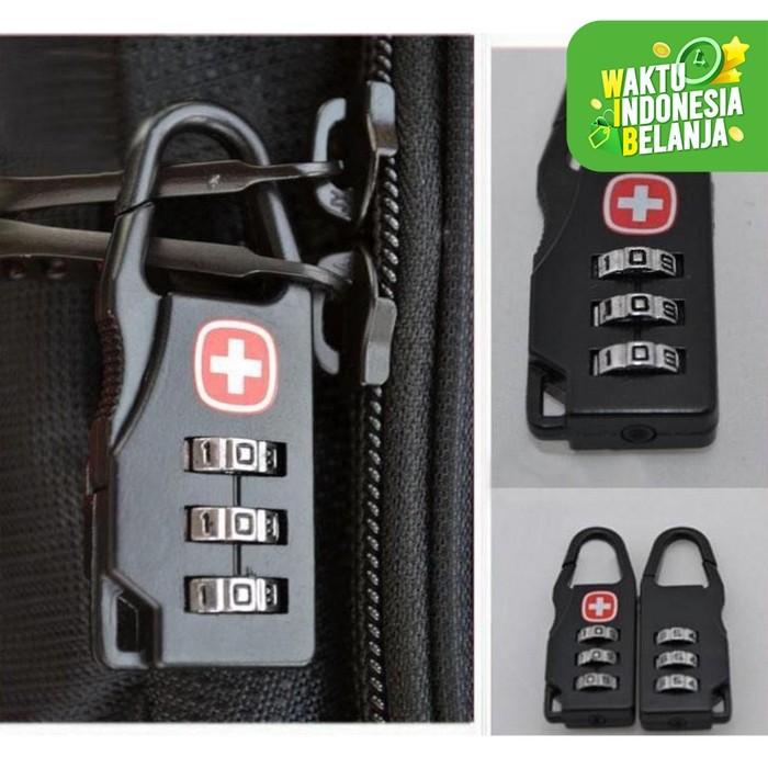 Foto Produk Gembok Kunci Koper padlock Travel Bag swiss gear army keychain Lock dari lbagstore