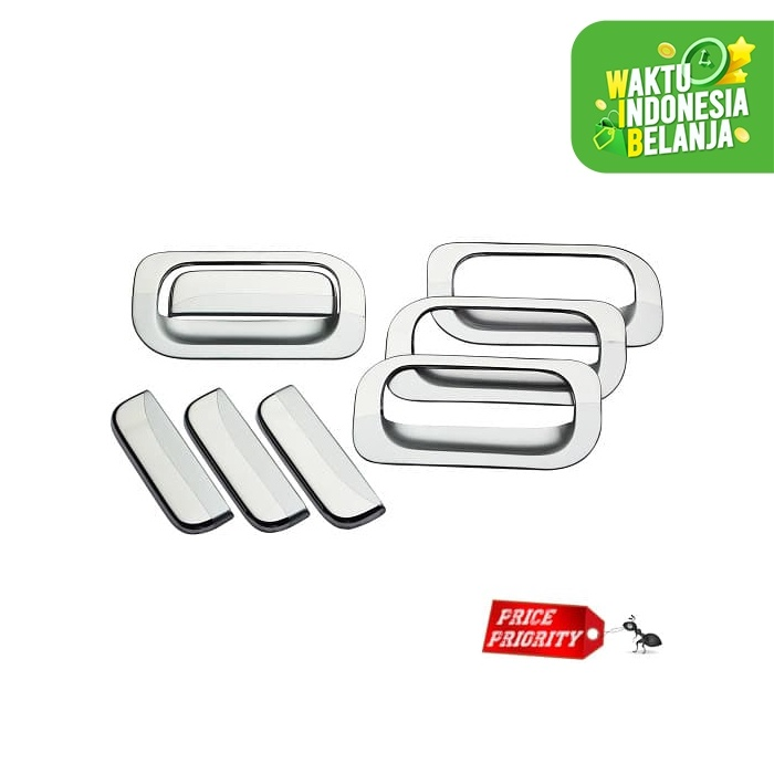 Foto Produk Paket Cover Handle + Outer Avanza Xenia Lama Old / New Full Chrome dari Price Priority