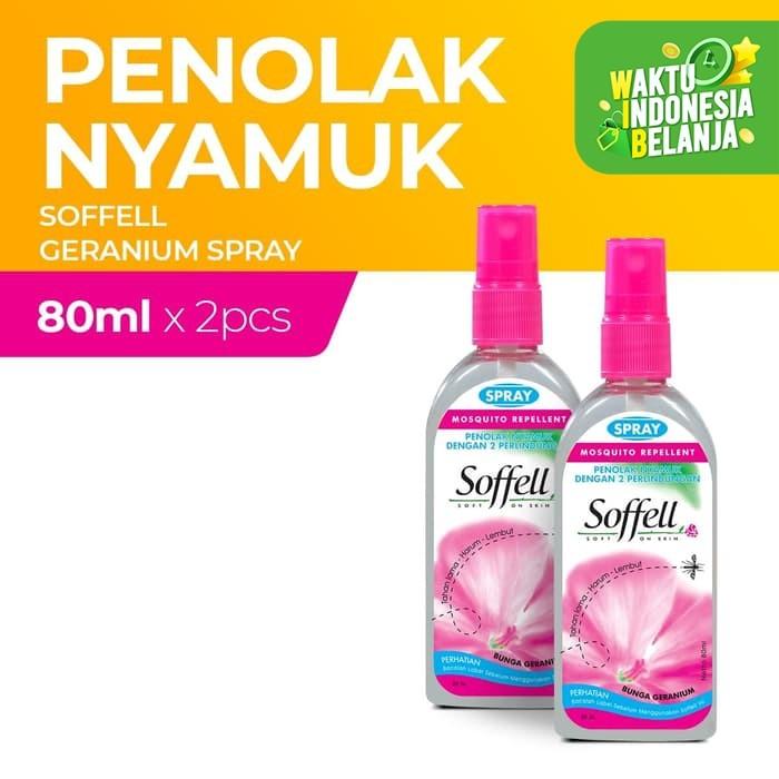 Foto Produk Soffell Botol Spray Bunga Geranium 80Ml x2 dari Enesis Official Store