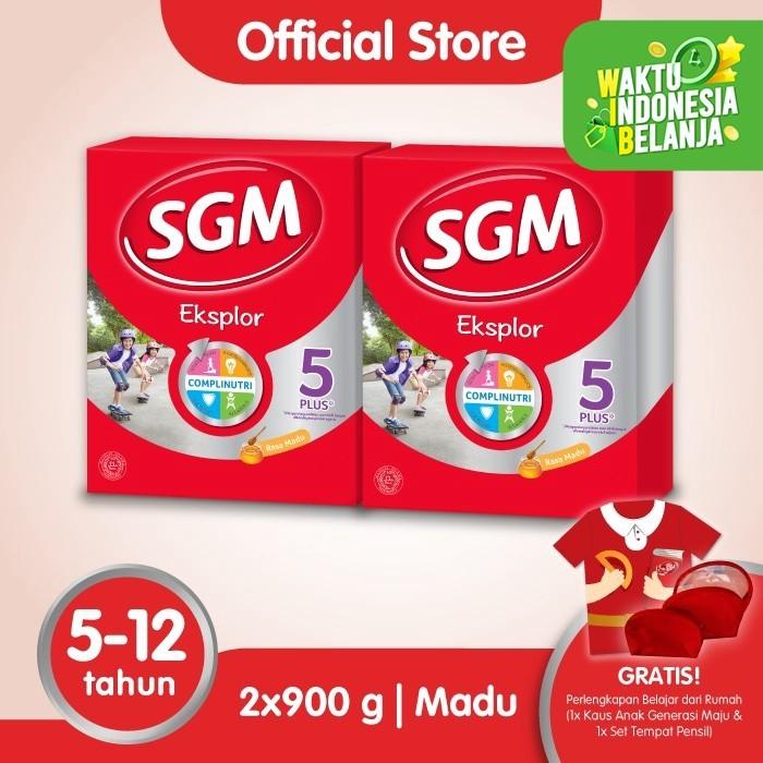 Foto Produk Paket 2 - SGM Eksplor 5 Plus Susu Pertumbuhan 5-12 Thn Madu 900g dari SGM Official Store