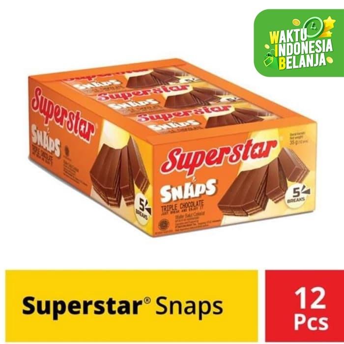 Foto Produk Superstar Snaps Triple Coklat 28GR X 12 psc dari toko dua putra