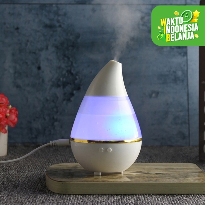 Foto Produk Water Drop Ultrasonic Humidifier Diffuser 7 Color LED Lights Auto Off dari lbagstore