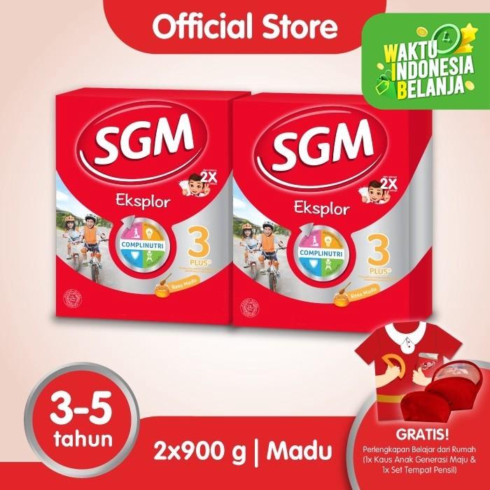 Foto Produk Paket 2 - SGM Eksplor 3 Plus Susu Pertumbuhan 3-5 Thn Madu 900g dari SGM Official Store
