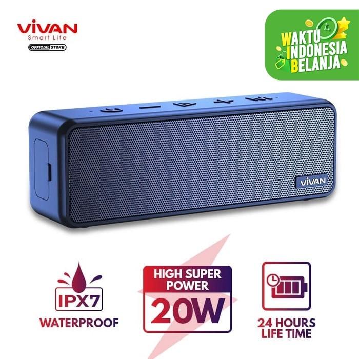 Foto Produk VIVAN VS20 Speaker Bluetooth 5.0 Waterproof IPX7 20W MicroSD AUX TWS dari VIVAN OFFICIAL SHOP