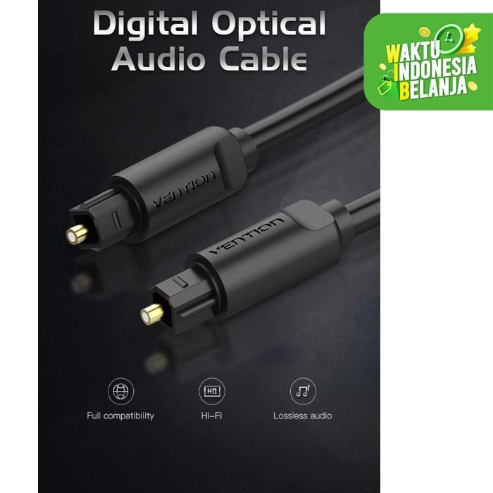 Foto Produk Vention [BAE 1.5M] Kabel Toslink Digital Audio Optical / Fiber Optik - Hitam dari SinShe-Tekno