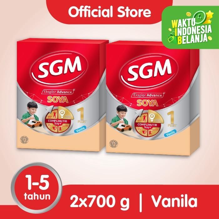 Foto Produk Paket 2 - SGM Eksplor SOYA Susu Pertumbuhan 1-5 Thn Vanila 700g dari SGM Official Store