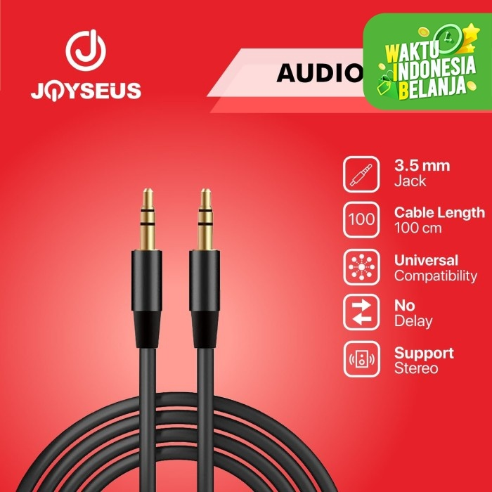 Foto Produk Kabel Audio AUX Male to male 3.5mm to 3.5mm 120 cm - KB0057-AA dari Joyseus Official Store