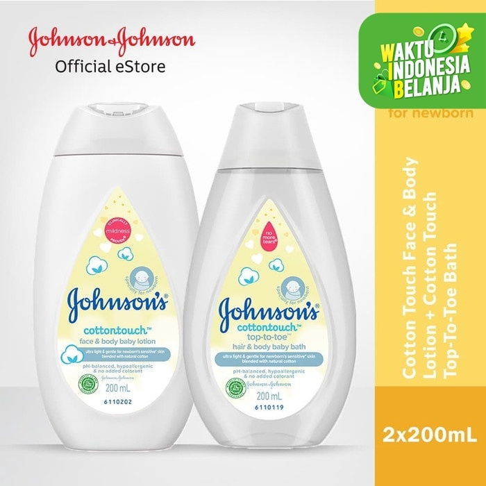 Foto Produk Johnson's Cottontouch Baby Bath 200ml & Lotion200ml dari Johnson & Johnson