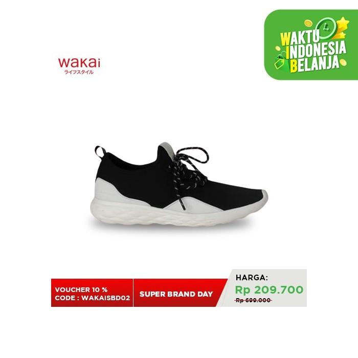 Foto Produk Sepatu Sneakers Pria Wakai KAIKU Black FM11901 - 42 dari Wakai Official Store