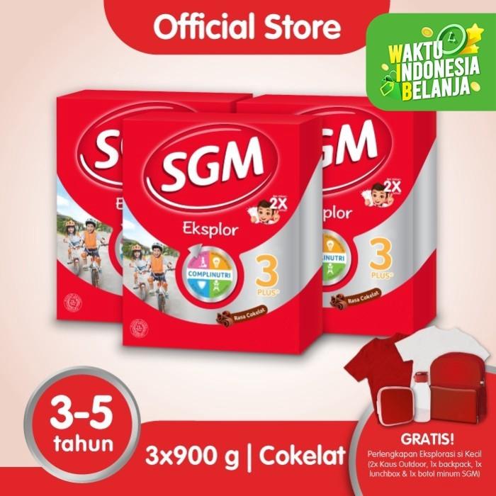 Foto Produk Paket 3 - SGM Eksplor 3 Plus Susu Pertumbuhan 3-5 Thn Coklat 900g dari SGM Official Store