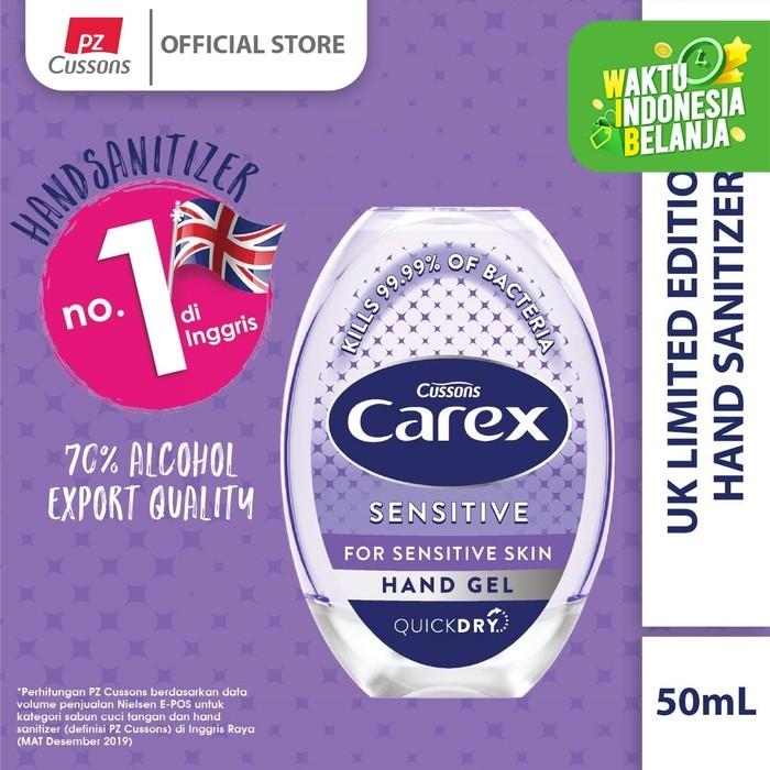 Foto Produk Carex Hand Gel UK Sensitive 50ml dari Cussons Official Store