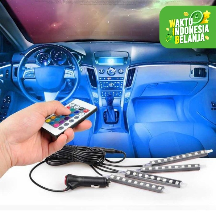 Foto Produk Lampu LED Kolong Dashboard Kabin Interior Mobil Remote RGB Warna Warni dari lbagstore