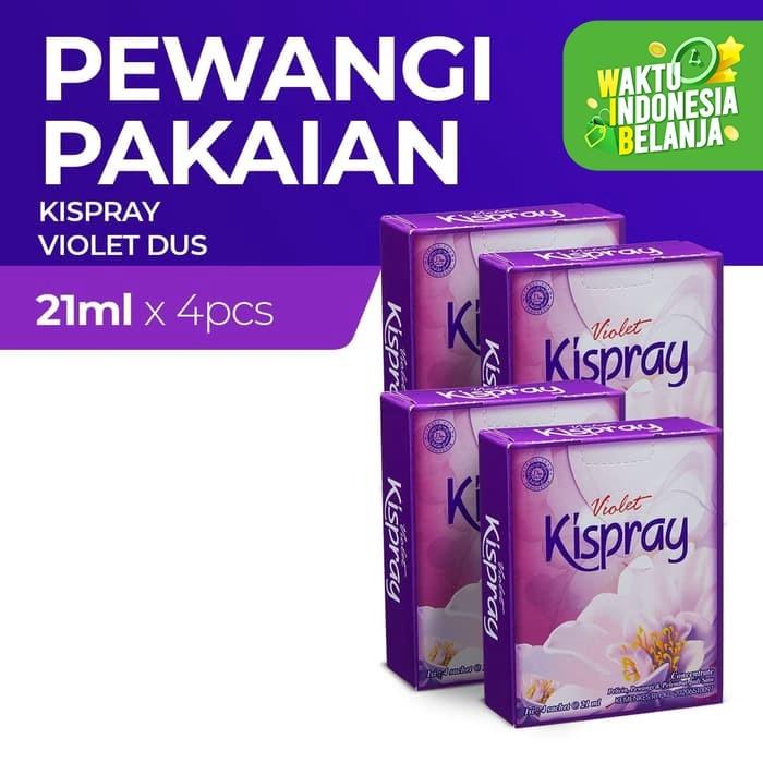 Foto Produk Kispray Dus Violet 21Ml - 4 Dus dari Enesis Official Store