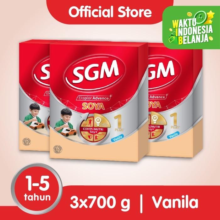 Foto Produk Paket 3 - SGM Eksplor SOYA Susu Pertumbuhan 1-5 Thn Vanila 700g dari SGM Official Store