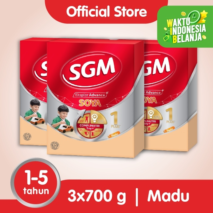 Foto Produk Paket 3 - SGM Eksplor SOYA Susu Pertumbuhan 1-5 Thn Madu 700g dari SGM Official Store