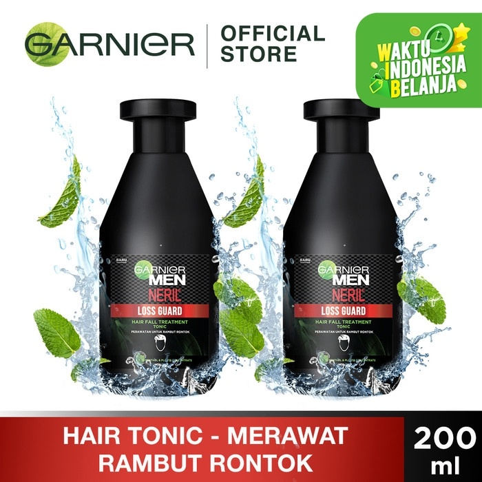 Foto Produk Garnier Men Neril Loss Guard Hair Fall Treatment Tonic 200ml Twin Pack dari Garnier Official