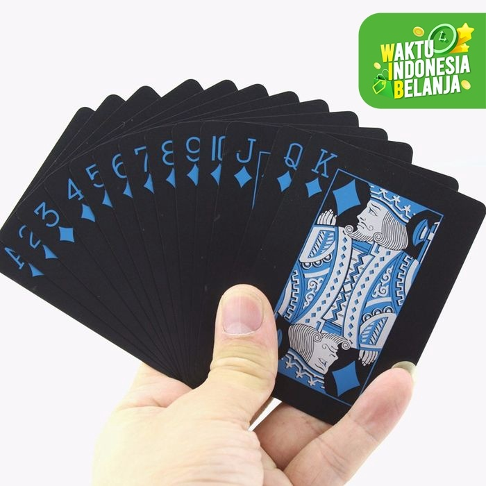 Foto Produk Set Kartu Remi Plastik PVC Anti Air Waterproof Poker Blackjack Card dari lbagstore