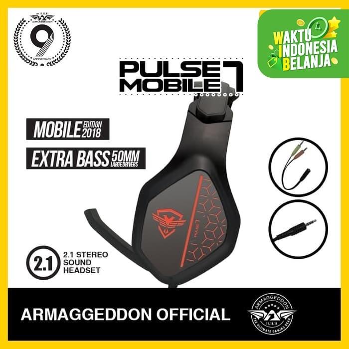 Foto Produk Headshet Headphone Gaming Pulse 7 Mobile Armaggedon - Soviets dari Armaggeddon Official