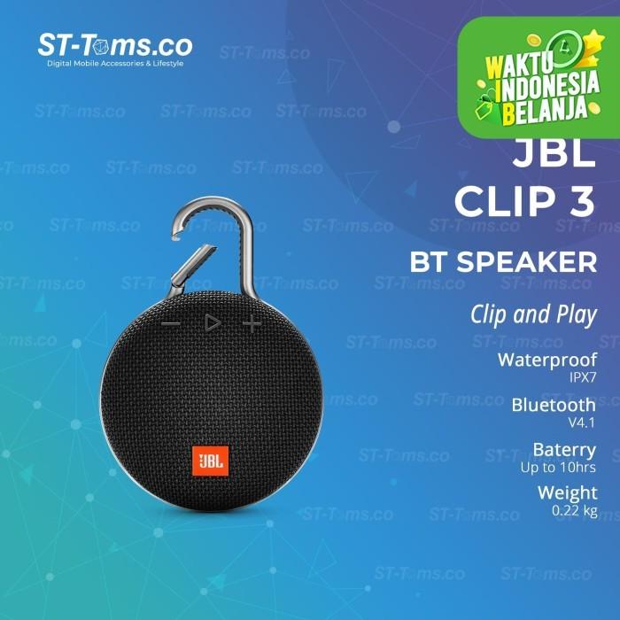 Foto Produk JBL CLIP 3 Portable Bluetooth Speaker - Black dari ST-Toms.co