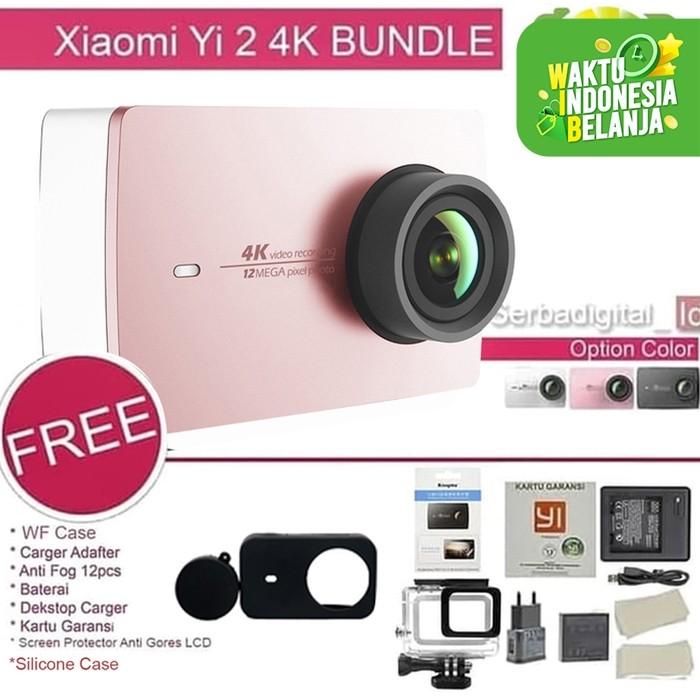 Foto Produk Xiaomi Yi 2 4K Combo Original Ver International Action Camera 2 - Merah Muda dari serbadigital-id