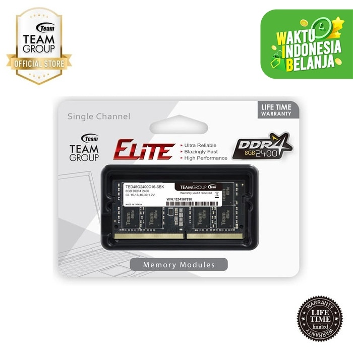 Foto Produk Team Memory Notebook 8GB PC 2400 DDR4 dari Teamgroup Official Store