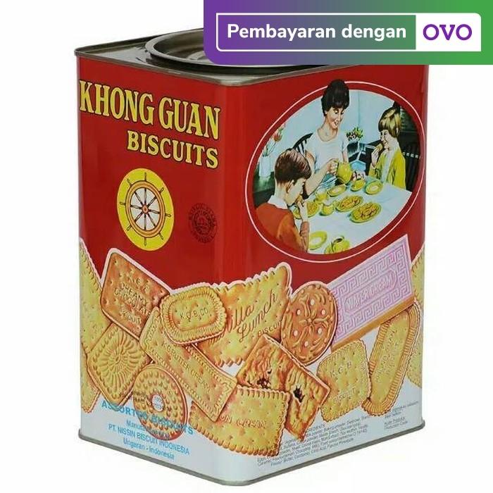 Foto Produk Khong Guan Assorted Red Segi / Khong Guan Kaleng Besar 1600 gram dari barangmurahdonk