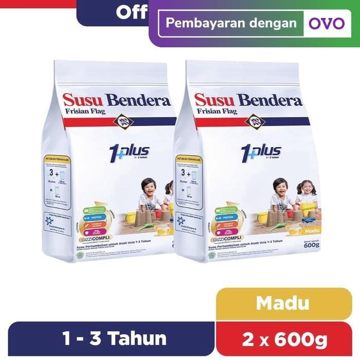 Foto Produk Susu Bendera 1+ Susu Bubuk Pertumbuhan 1-3 Tahun Madu 600g [2 pcs] dari Susu Bendera Store