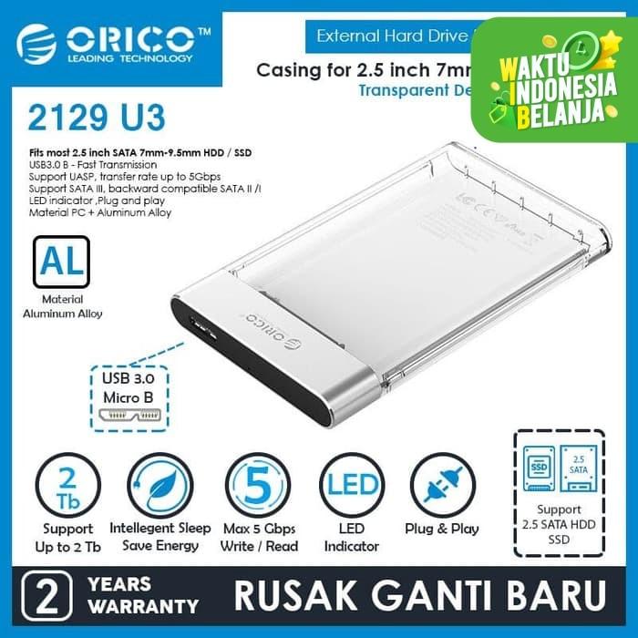 Foto Produk ORICO Enclosure Transparent USB3.0 2.5 inch HDD SSD - 2129U3 dari ORICO INDONESIA