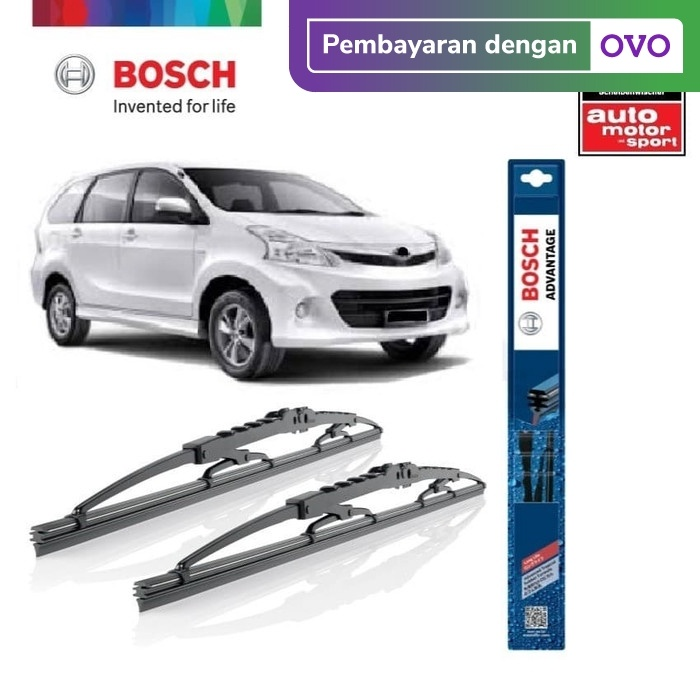 Foto Produk Wiper Mobil Toyota Avanza 2004-2012 Sepasang Bosch Advantage dari BOSCH Automotive