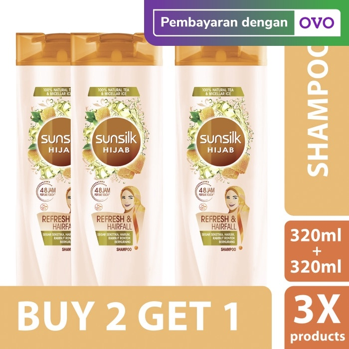 Foto Produk Sunsilk Hijab Shampoo Anti Hairfall 320Ml isi 2 free 1 pcs dari Unilever Official Store