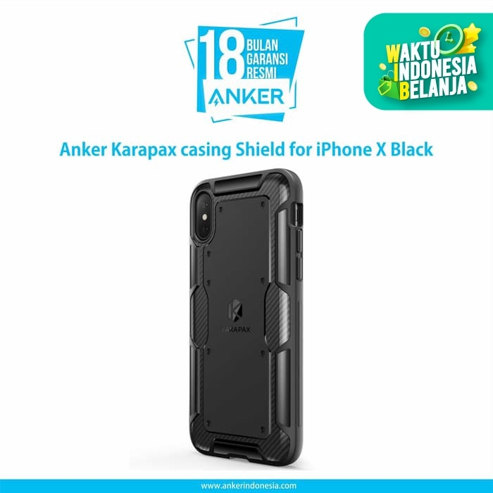 Foto Produk Casing Anker Karapax Shield for iPhone X Black - A9007H11 dari Anker Indonesia