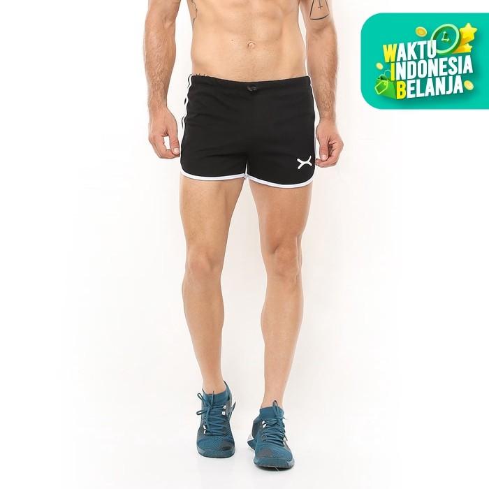 Foto Produk FLEXZONE Celana Pendek - Black - for Gym Running Jogging FCS-005HT - L dari FLEXZONE