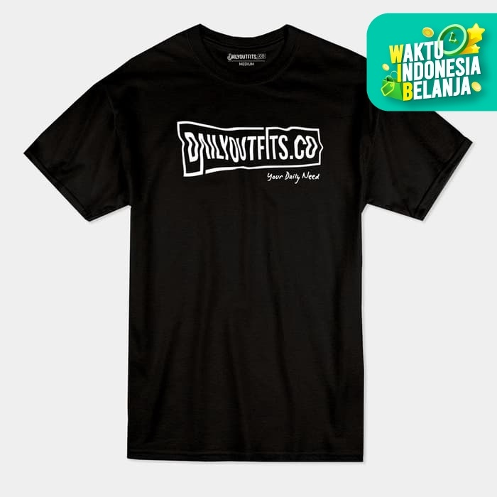 Foto Produk Daily Outfits Shortsleeve Tees Kaos Basics Black Premium Quality - M dari Daily Outfits DYO