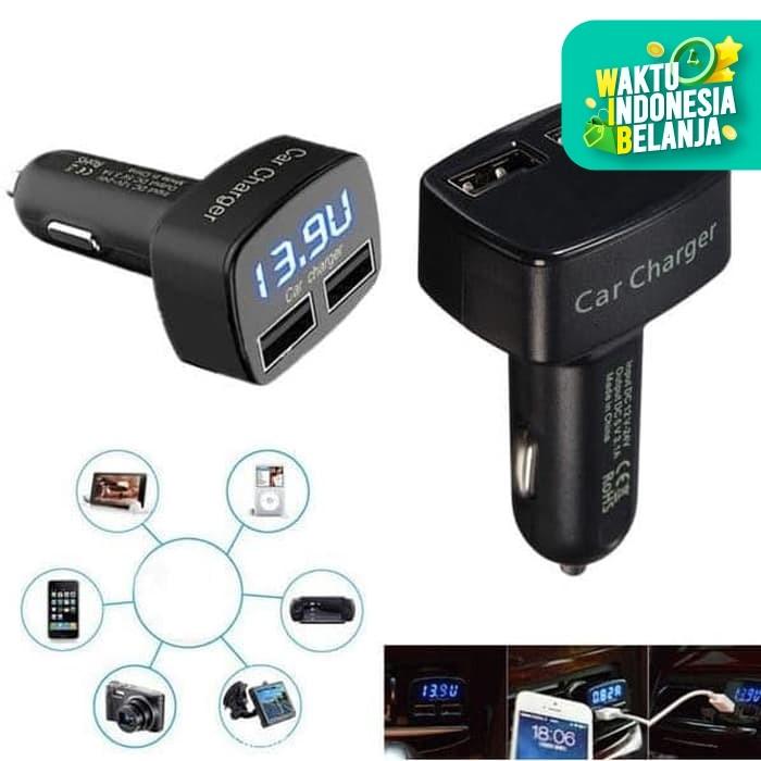 Foto Produk 4 in 1 USB Car Charger, Ampere-Voltmeter-Temperatur Meter Display dari dfanccie house