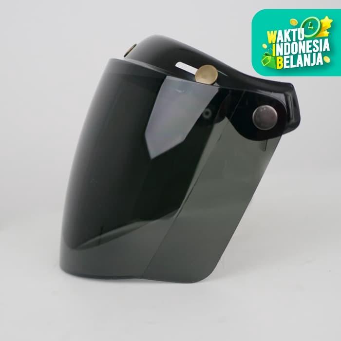Foto Produk Visor Cafe Racer Howard Smith List Chrome - Smoke dari Helm Cargloss