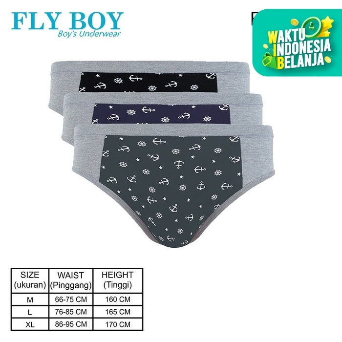 Foto Produk FlyBoy Boys Midi Brief Anchor FBC 3203 - L dari Flyman Nathalie Store