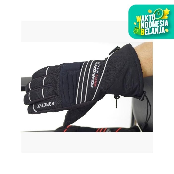 Foto Produk Komine GK-794 GTX Winter Glove Sarung Tangan Motor - Black SIlver - L dari Helm Cargloss