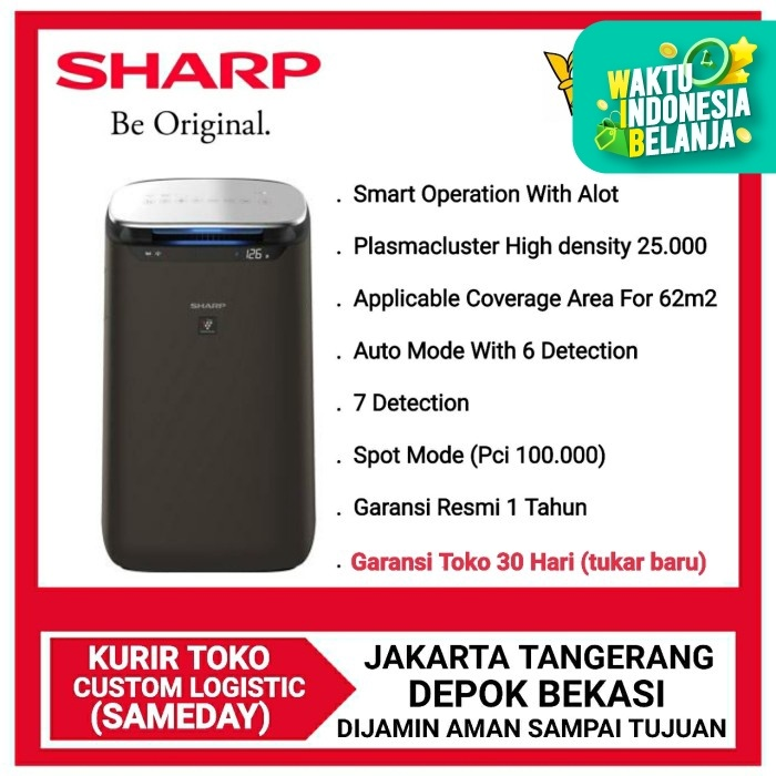 Foto Produk SHARP AIR PURIFIER FP-J80Y-H [Cover 62 m²]Smart Operation with AIot dari DPRINCE