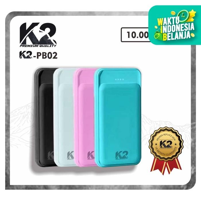 Foto Produk Powerbank K2-PB02 10000Mah K2 PREMIUM QUALITY Garansi Resmi 18Bln REAL - Hitam dari K2 Official Store