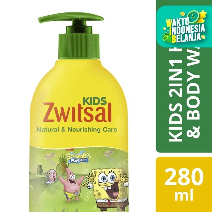 Foto Produk Zwitsal Kids 2 In 1 Sabun Mandi Cair Anak Natural And Nourish 280Ml dari Unilever Official Store