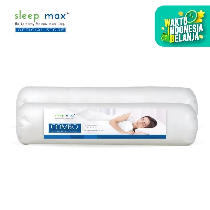 Foto Produk [Isi 2 Guling] Sleep Max Combo Bolster/Paket Guling Dakron 21x77 Cm dari SLEEP MAX