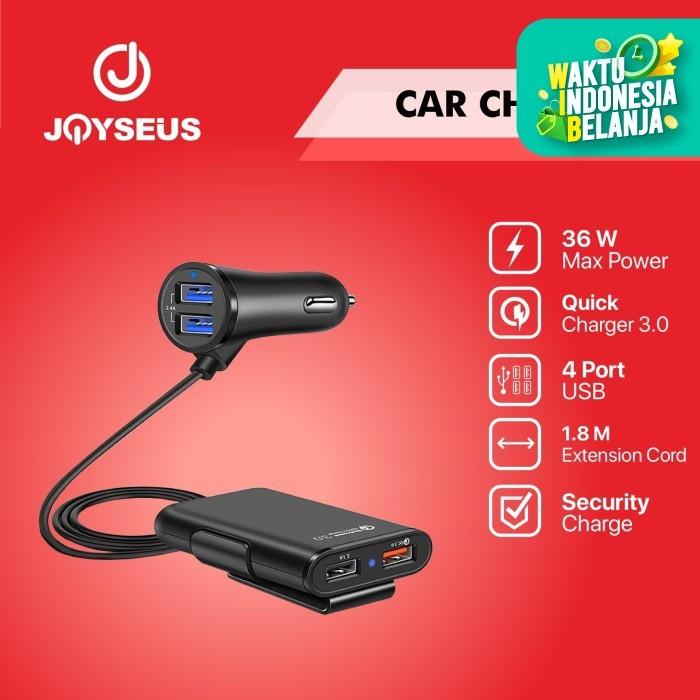 Foto Produk JOYSEUS Car Charger 4 COLOKAN QC3.0 Quick Charger Mobil USB - CM0005 dari Joyseus Official Store