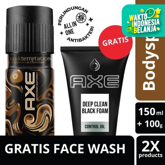 Foto Produk Axe Deo Bodyspray Dark Temptation 150Ml Free Deep Clean Foam 100g dari Unilever Official Store
