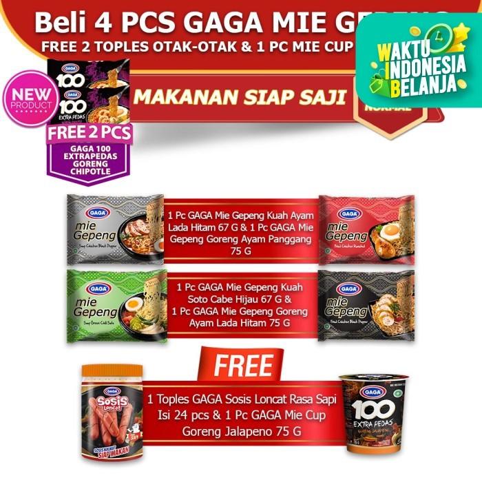 Foto Produk GAGA Mie Gepeng, GAGA Mie Cup, GAGA Sosis Loncat Sapi (kode21) dari Gaga Official Store
