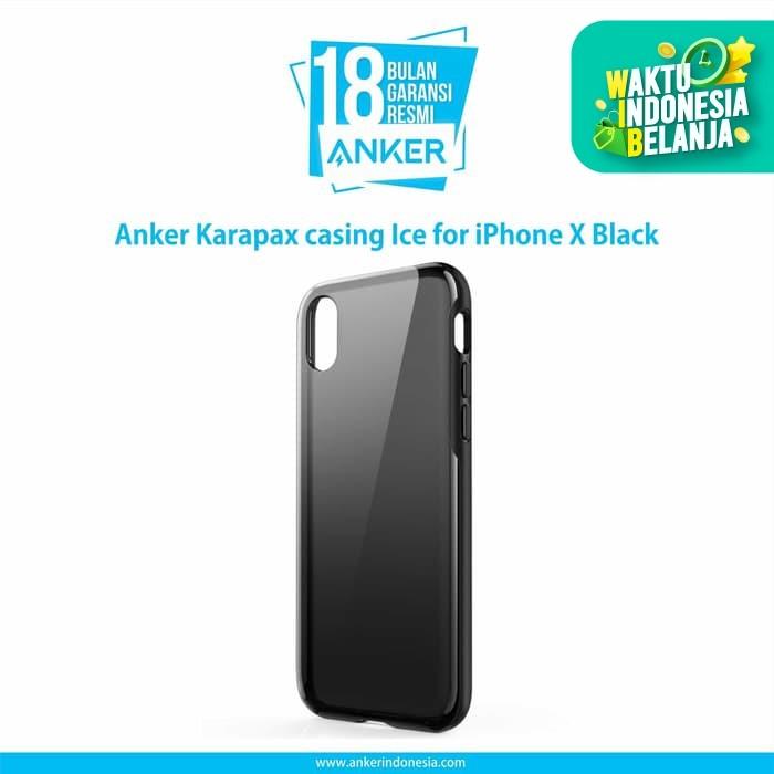 Foto Produk Casing Anker Karapax Ice for iPhone X Black - A9010H11 dari Anker Indonesia