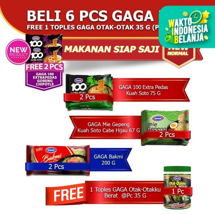 Foto Produk GAGA100 Extra Pedas Soto, Mie Gepeng Soto, Bakmi, Otak-Otak (kode19) dari Gaga Official Store