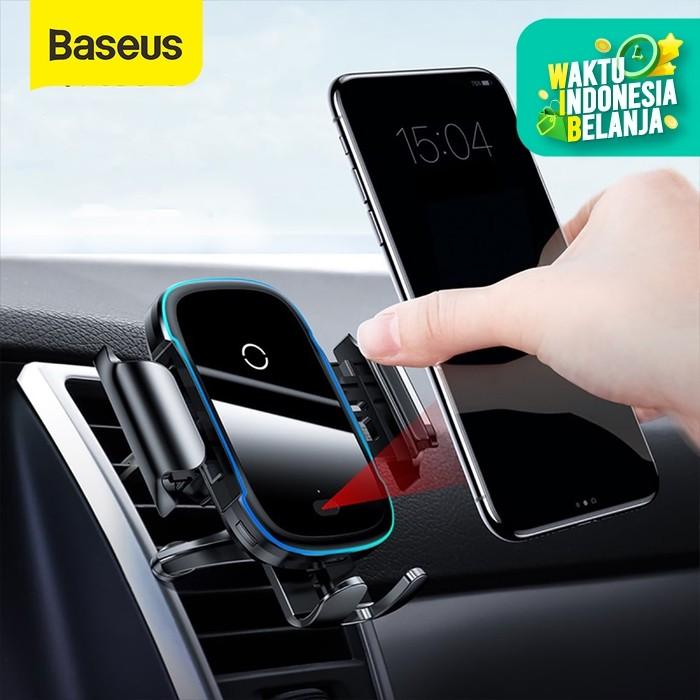 Foto Produk BASEUS INFRARED SENSOR CAR HOLDER FAST CHARGING WIRELESS CHARGER 15W - Hitam dari Baseus Official Store