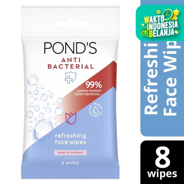 Foto Produk Pond'S Antibacterial Face Wipes, Alcohol-Free, With Aloe Vera dari Unilever Official Store